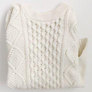 Madewell fisherman sweater